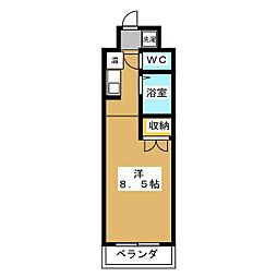 みつまめ京都[4階]の間取り