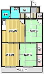 ワンズコア新松戸II[1階]の間取り