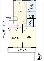 第一高杉マンション[4階]の間取り