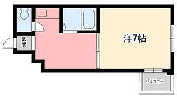 ワンフラーリッシュ西宮[4階]の間取り