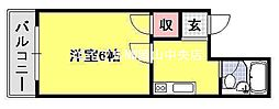 エスプローネ清輝橋[4階]の間取り