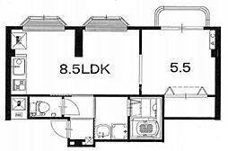 北山グレースハウス[301号室号室]の間取り