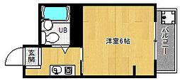 京都府京都市北区紫野中柏野町の賃貸マンションの間取り