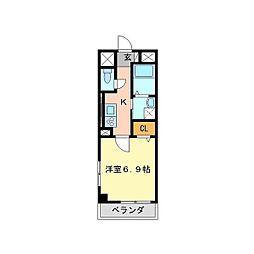 兵庫県尼崎市水堂町1丁目の賃貸マンションの間取り