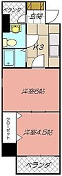 ロイヤルキャッスル[303号室]の間取り