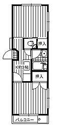 第一沢登マンション[2階]の間取り