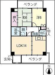 燦・宗太郎[4階]の間取り