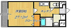 グローブワン(GLOBE1)[506号室]の間取り