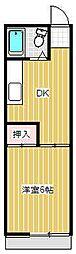 コーポヤマニ[202号室号室]の間取り