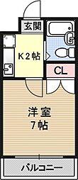 プチメゾン平井[1B号室号室]の間取り