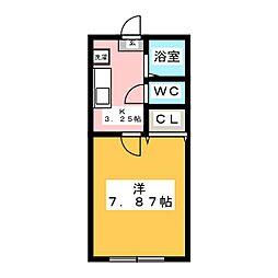 ホワイトキャッスル鈴雄A棟[1階]の間取り
