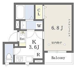 東京メトロ丸ノ内線 新大塚駅 徒歩1分の賃貸アパート 2階1Kの間取り