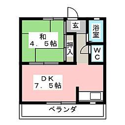 コーポ大樹[2階]の間取り