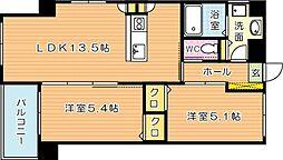 MDIフォレストガーデン三ケ森[6階]の間取り