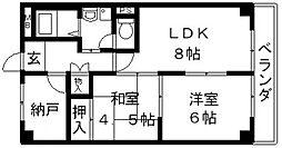 岡島ラインハウス[602号室号室]の間取り