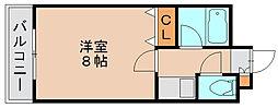 サンシティ箱崎九大前[6階]の間取り