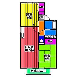 セジュールTAKA[1階]の間取り