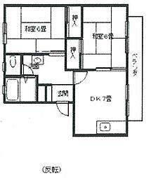 [タウンハウス] 兵庫県伊丹市平松3丁目 の賃貸【/】の間取り