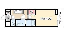 愛知県名古屋市緑区黒沢台2丁目の賃貸アパートの間取り