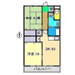 ライフ21[1階]の間取り