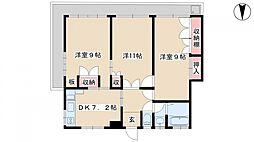 小林マンション[4階]の間取り