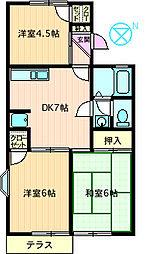 コーポラス渋谷I[105号室]の間取り