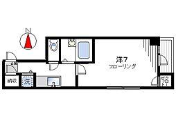 スカイコート日本橋第5[707号室]の間取り