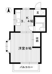 東京都練馬区早宮3丁目の賃貸アパートの間取り