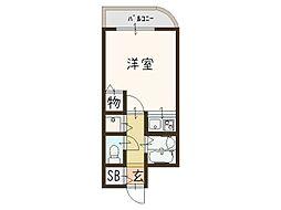 コーポマサキ[701号室]の間取り