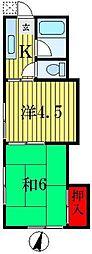 大河原荘[2階]の間取り