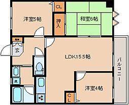 兵庫県神戸市兵庫区上沢通2丁目の賃貸マンションの間取り
