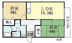 アーバン寺田II号館[2階]の間取り