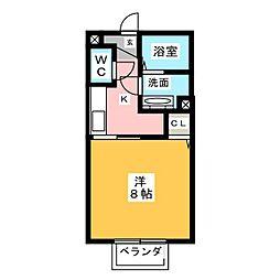 Hana Saku 1階1Kの間取り