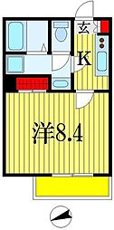 Regalo Chiba(レガーロチバ) 2階1Kの間取り