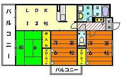 ソレーユ21[1階]の間取り