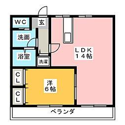 近藤マンション[4階]の間取り