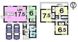 全居室6帖以上。南向きバルコニーの明るいおうちです。並列で駐車2台可能です