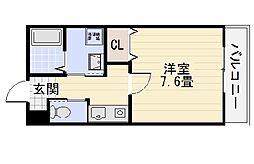 AQUOA深井[301号室]の間取り