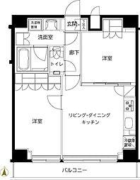 ルーブル東武練馬弐番館 6階2LDKの間取り