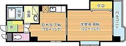 アーバンハイツ南台[2階]の間取り