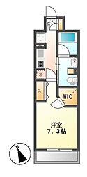 パークアクシス東別院[6階]の間取り