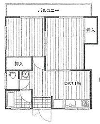 東京都江戸川区西一之江3丁目の賃貸アパートの間取り