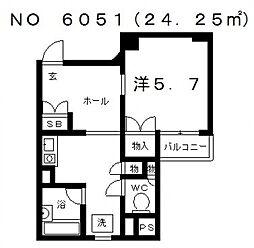 伊藤谷町ビル[4階]の間取り