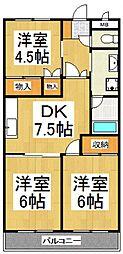 HOSODAマンション[4階]の間取り