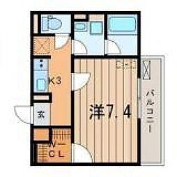 プランドール横浜[2階]の間取り