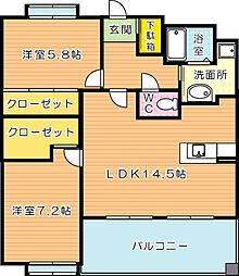 COZY三ヶ森 B棟(コージー三ヶ森)[4階]の間取り