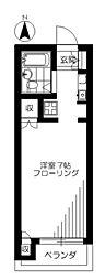 東京都中野区大和町2丁目の賃貸マンションの間取り