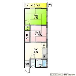 桜マンション[302号室]の間取り