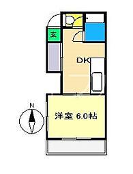 ハウス六本木[3階]の間取り