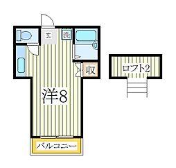 江戸川台カサベラ五番館[2階]の間取り